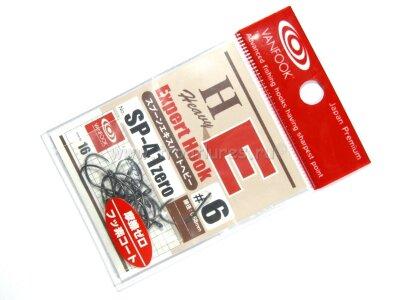 Крючки без бородки для блёсен Vanfook Spoon Expert Hook Heavy SP-41 Zero #6, 16шт./уп., zero black