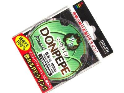 Плетеный шнур Gosen Donpepe PE #0.6 100m 9.0lb 4.0kg #Многоцветный