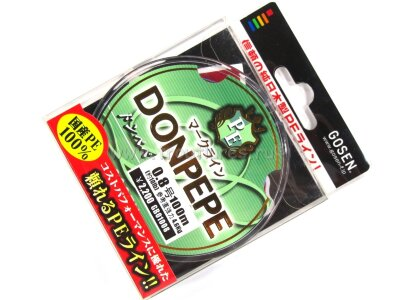 Плетеный шнур Gosen Donpepe PE #0.8 100m 10.0lb 4.6kg #Многоцветный