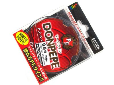 Плетеный шнур Gosen Donpepe PE #0.8 150m 10.0lb 4.6kg #Многоцветный