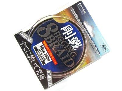 Плетеный шнур Gosen Jigging 8 Braid PE 16.0lb 200m #0.8 7.3kg #Многоцветный